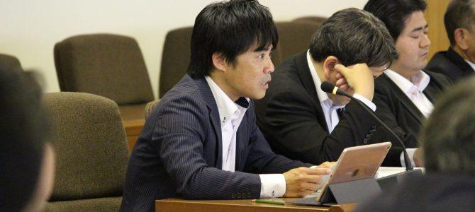 総務財政委員会に委員外議員として出席しました