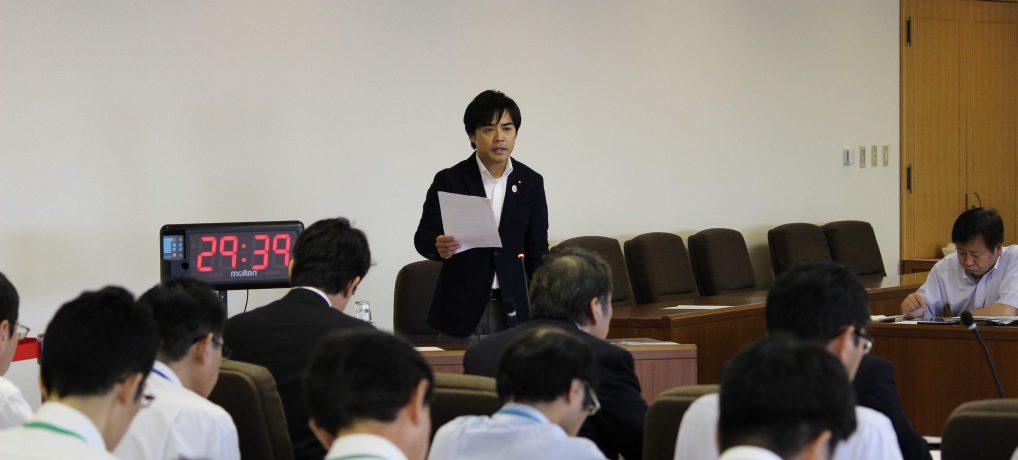 平成29年度決算特別委員会局別審査にて質疑しました